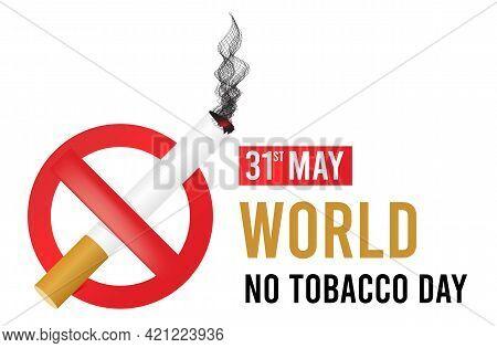 World No Tobacco Day. Vector Illsutration