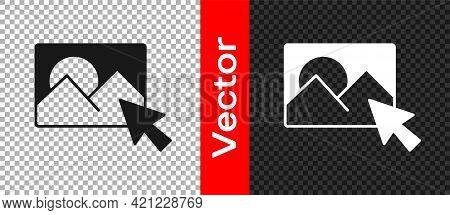 Black Photo Retouching Icon Isolated On Transparent Background. Photographer, Photography, Retouch I