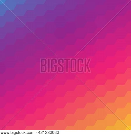 Light Pink Orange Vector Template In A Hexagonal Style. Smart Abstract Illustration With Colored Gra