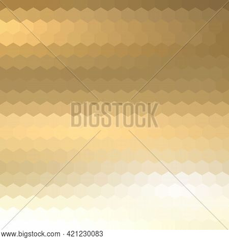 Light Gold Vector Template In A Hexagonal Style. Smart Abstract Illustration With Colored Gradient H