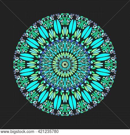 Geometrical Colorful Circular Abstract Gravel Pattern Mandala Art