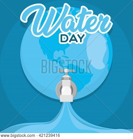 World Water Day Poster Conservation Campaign Vector Illustration