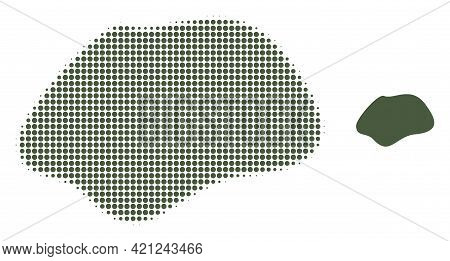 Spot Simple Halftone Dotted Icon Illustration. Halftone Pattern Contains Circle Dots. Vector Illustr