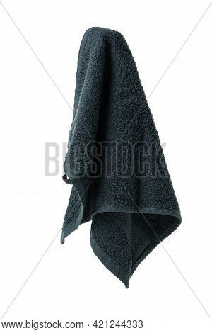 Clean Hanging Towel Isolated On White Background