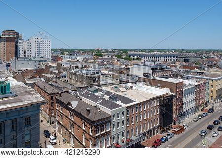 New Orleans, La - April 20: Rooftop View Of Heart Of The French Quarter From North Peters Street On