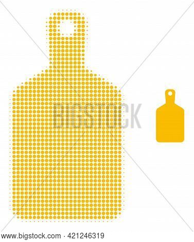 Cutting Board Halftone Dot Icon Illustration. Halftone Array Contains Circle Points. Vector Illustra