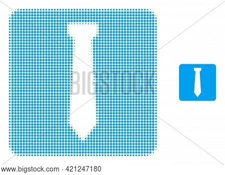Tie Halftone Dot Icon Illustration. Halftone Pattern Contains Circle Pixels. Vector Illustration Of