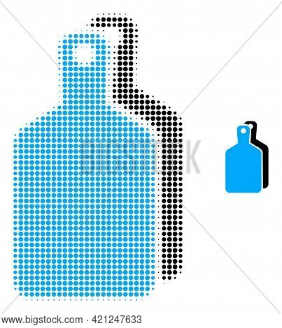 Cutting Boards Halftone Dot Icon Illustration. Halftone Pattern Contains Circle Pixels. Vector Illus