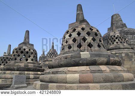 The 9th-century Mahayana Buddhist Temple Borobudur, Magelang Regency, Near Yogyakarta, Java Island,