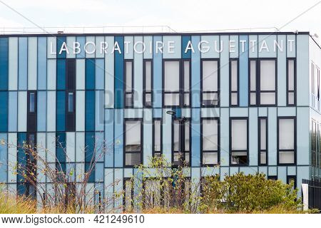 Lyon, France - July 29, 2017: Laboratoire Aguettant Is An Independent French Pharmaceutical Laborato