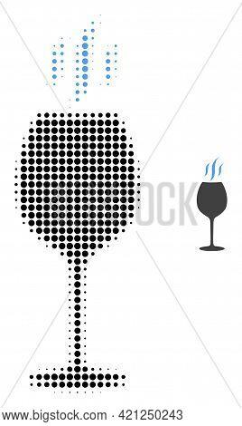 Wine Flavour Halftone Dot Icon Illustration. Halftone Pattern Contains Circle Dots. Vector Illustrat