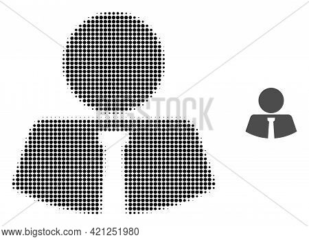 Mister Halftone Dot Icon Illustration. Halftone Pattern Contains Circle Dots. Vector Illustration Of