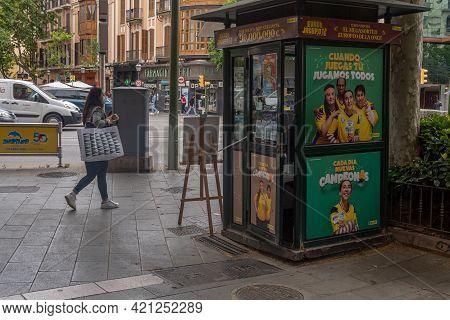 Palma De Mallorca, Spain; May 19 2021: Lottery Kiosk Of The Spanish National Organization For The Bl