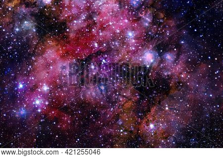 Outer Space Art. Starfield. Elements Of This Image Furnished By Nasa.