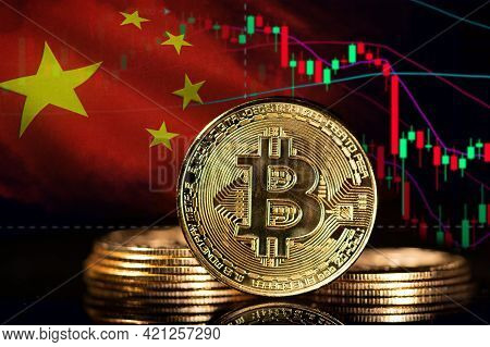 Bitcoin. Dangers And Risks Of Investing To Bitcoin, Speculation. Negative Tendency. Index In The Red
