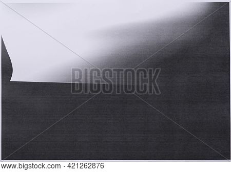 Photocopy Paper Error From Fax Machine, Texture And Background, Close Up