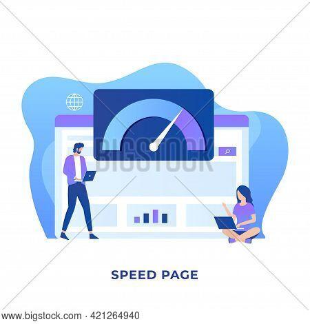 Page Speed Illustration Vector Concept. Illustration For Websites, Landing Pages, Mobile Application