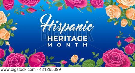 Hispanic Heritage Month. Vector Web Banner, Poster, Card For Social Media, Networks. Greeting With N