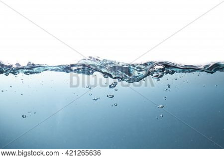 The Sea At The Time Of The Storm Causing A Violent Wave The Mulberry Blue Water Is Polluted With Dus