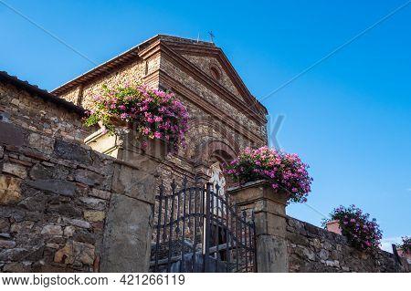 Catholic Church Of Saint Mary Santa Maria A Panzano In Chianti, Tuscany, Italy