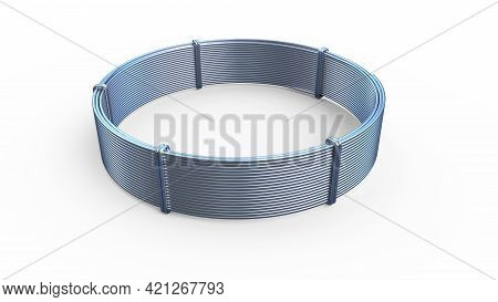 Aluminum Wire Skein - Isolated Concept Industrial 3d Illustration