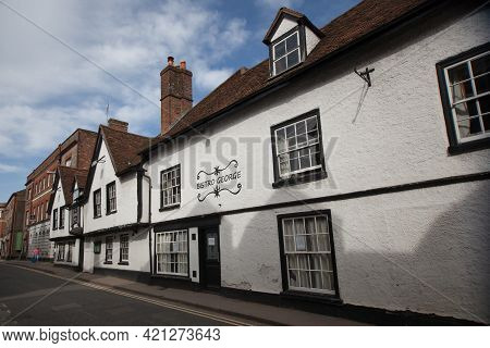 The George Hotel And Bistro On The High Street In Wallingford, Oxfordshire In The Uk, Taken On The 3