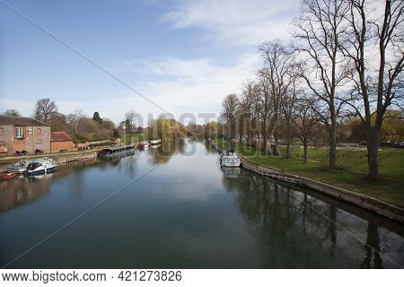 Views Along The Thames At Wallingford, Oxfordshire In The Uk, Taken On The 31st March 2021