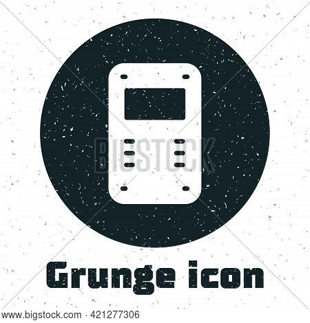 Grunge Police Assault Shield Icon Isolated On White Background. Monochrome Vintage Drawing. Vector