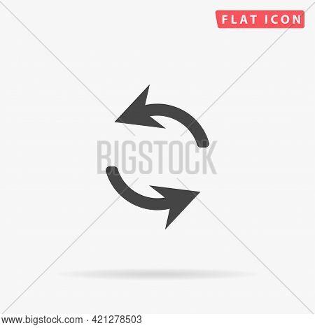Exchange Arrow Flat Vector Icon. Hand Drawn Style Design Illustrations.