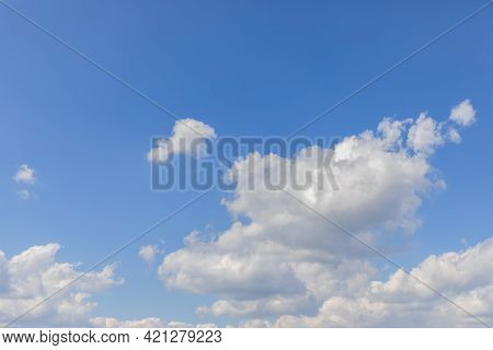 Blue Beautiful Sky With Fresh White Clouds