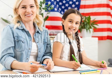 Help With Homework Is Widely Required Among Schoolkids Now. Learning English Language In Usa. Englis