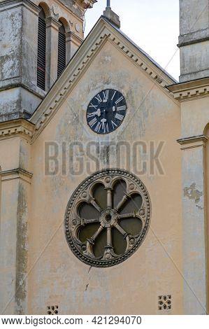 Clock At Tekije Largest Marian Church In Serbia