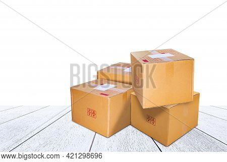 Parcel Crate Box Post For Delivery Shipping, Cardboard Paper Carton Box Brown For Packaging Delivery