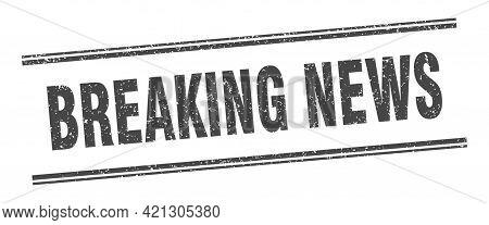 Breaking News Background, World Global Tv News Banner Design. Breaking News Background With Planet.