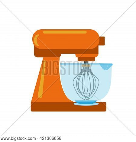 Electric Mugger With Orange Plastic Base And Transparent Plastic Bowl For Cooking, Electro Kitchen A
