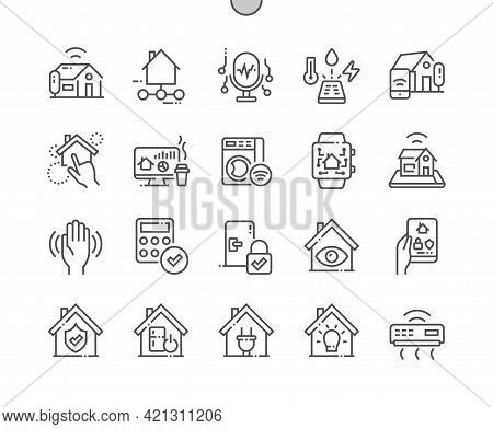 Home Automation. Control House. Security System. Energy Management And Lighting Control. Technology