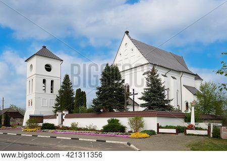 Catholic Church Church Of The Holy Trinity In Chernavchitsy Village, Brest Region, Belarus.