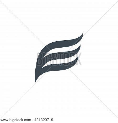 E Letter Logo Lettermark E Monogram - Typeface Type Emblem Character Trademark - E Letter Wings