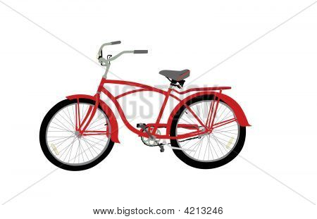 Fire Engine Red Bicycle