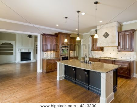 Luxury Home Interior Kitchen And Living Room