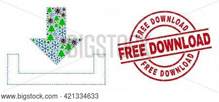 Winter Viral Collage Download, And Dirty Free Download Red Round Stamp Imitation. Collage Download I