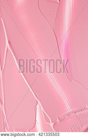 Pink Lipstick Or Lip Gloss Texture As Cosmetic Background, Makeup And Beauty Cosmetics Product For L