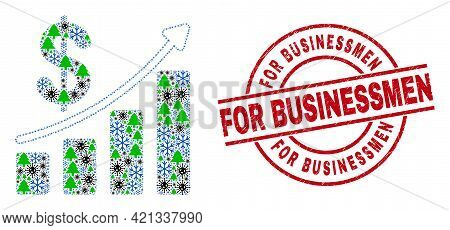 Winter Covid Composition Profit Up Trend Chart, And Unclean For Businessmen Red Round Stamp Imitatio