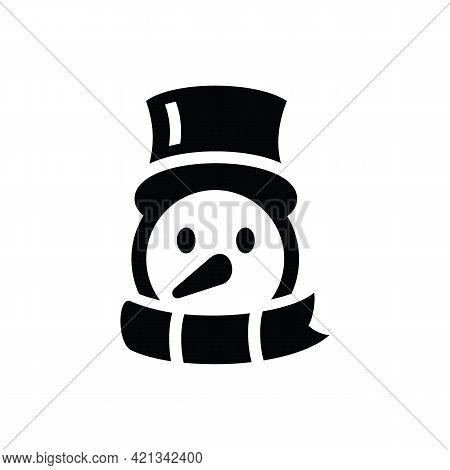 Snowman Icon. Merry Christmas Season Celebration And Decoration Theme. Isolated Design. Vector Illus