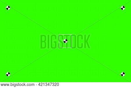 Green Colored Chroma Key Background Screen Flat Style Design Vector Illustration. Chroma Key Vfx Scr