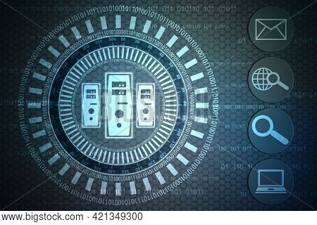 Binary Code Background, Digital Abstract Technology Background, Big Data Digital Binary Code, Intern