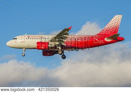 Saint Petersburg, Russia - October 25, 2018: Airplane Airbus A319-111