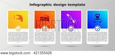 Set Approximate Measurements, Measuring Instrument, Spoon And Scales. Business Infographic Template.