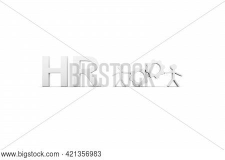 Hr Concept White Background 3d Render Illustration