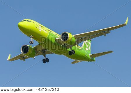 Saint Petersburg, Russia - August 08, 2020: Airbus A320neo (vq-bcr) Of S7 Airlines - Siberia Airline